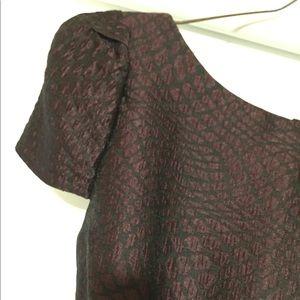 Purple metallic sheath dress